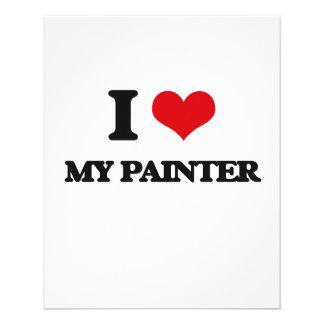 Eu amo meu pintor panfleto personalizado
