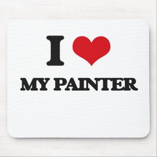 Eu amo meu pintor mouse pad
