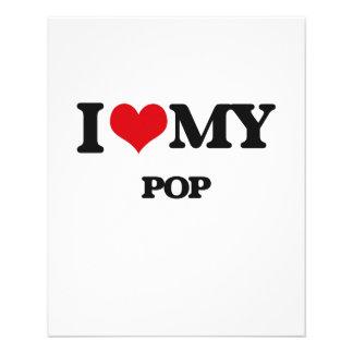 Eu amo meu POP Panfleto Personalizados