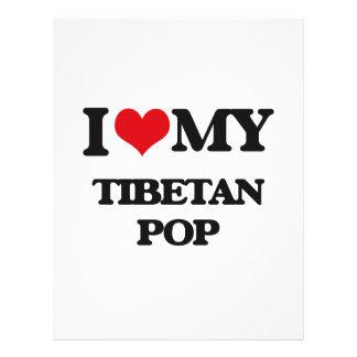 Eu amo meu POP TIBETANO Modelos De Panfleto