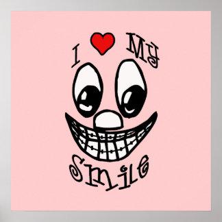 Eu amo meu poster customizável do sorriso pôster