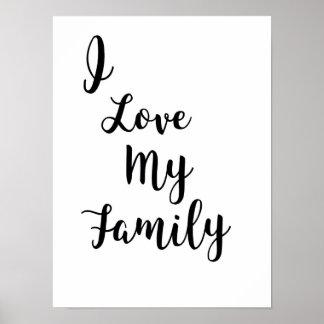 Eu amo meu poster da família pôster
