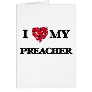 Eu amo meu pregador cartão comemorativo