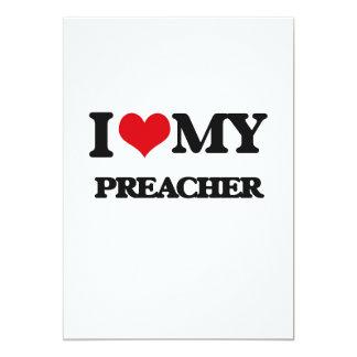 Eu amo meu pregador convites personalizado