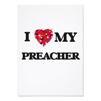 Eu amo meu pregador convite 12.7 x 17.78cm