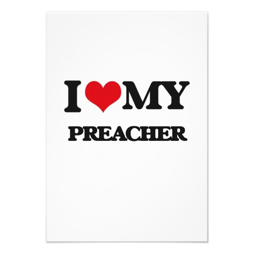 Eu amo meu pregador convite personalizado