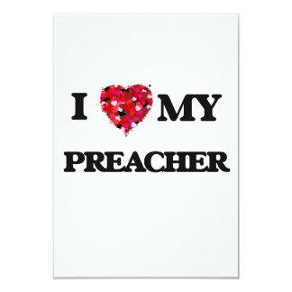 Eu amo meu pregador convite 8.89 x 12.7cm