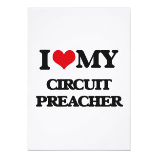 Eu amo meu pregador do circuito convites