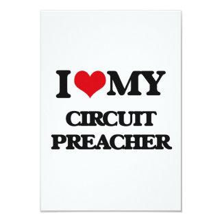 Eu amo meu pregador do circuito convite 8.89 x 12.7cm