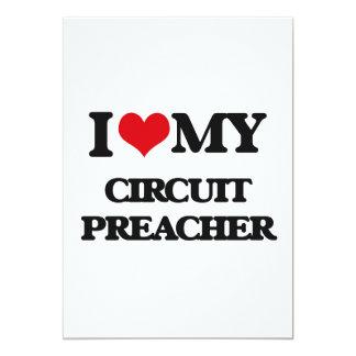Eu amo meu pregador do circuito convite 12.7 x 17.78cm