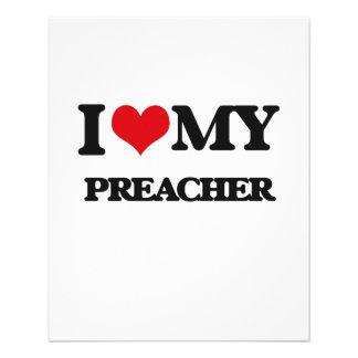 Eu amo meu pregador panfletos personalizados