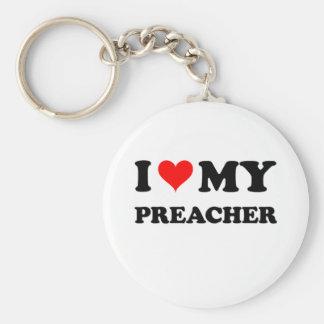 Eu amo meu pregador chaveiros