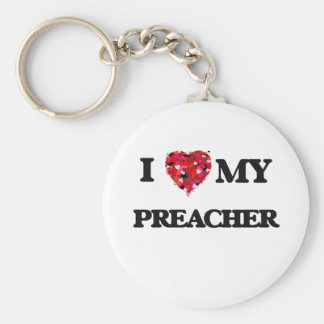 Eu amo meu pregador chaveiro