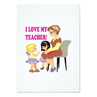 Eu amo meu professor convite 12.7 x 17.78cm