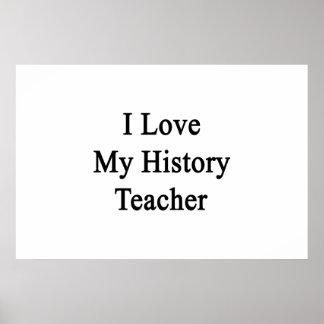 Eu amo meu professor da história impressão