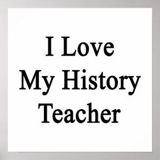 Eu amo meu professor da história posters