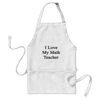 Eu amo meu professor de matemática avental