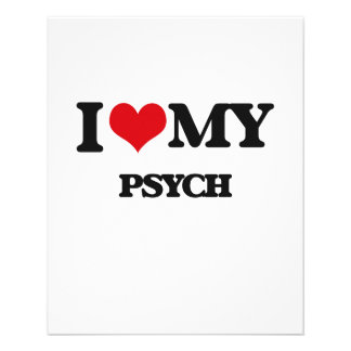 Eu amo meu PSYCH Modelo De Panfletos