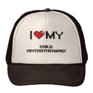 Eu amo meu Psychotherapist da criança Boné