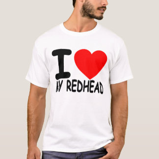 Eu amo meu Redhead - t-shirt. .png Camiseta