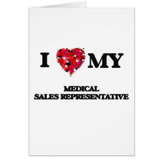Eu amo meu representante de vendas médico cartão comemorativo