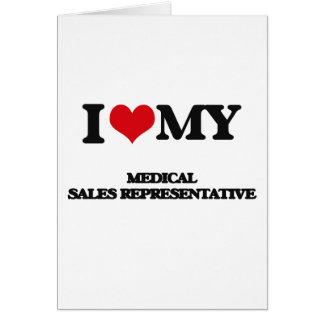 Eu amo meu representante de vendas médico