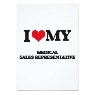 Eu amo meu representante de vendas médico convite personalizado