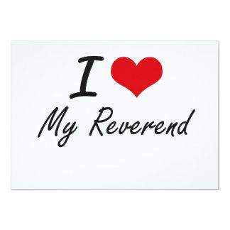 Eu amo meu reverendo convite 12.7 x 17.78cm