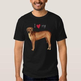 Eu amo meu Rhodesian Ridgeback Camiseta