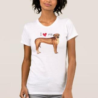 Eu amo meu Rhodesian Ridgeback T-shirt