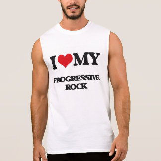 Eu amo meu ROCK PROGRESSIVO Camisetas Sem Manga