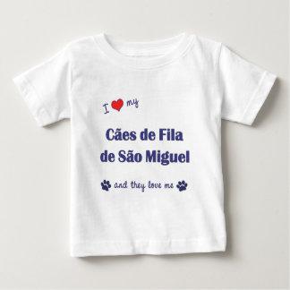 Eu amo meu Sao Miguel de Caes de Filamento de (os Tshirts