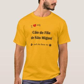 Eu amo meu Sao Miguel de Cao de Filamento de (o Camiseta