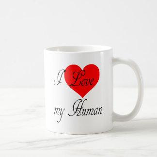 Eu amo meu ser humano caneca de café