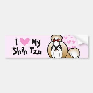 Eu amo meu Shih Tzu (a mostra cortada) Adesivo Para Carro