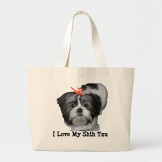 Eu amo meu Shih Tzu Bolsa De Lona