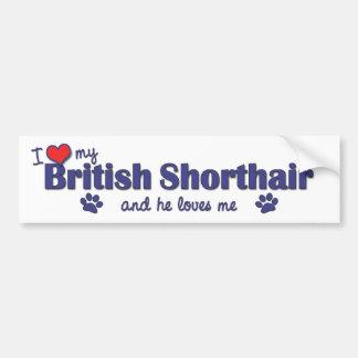 Eu amo meu Shorthair britânico (o gato masculino) Adesivo Para Carro