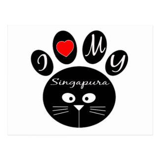 eu amo meu Singapura. Cartão Postal