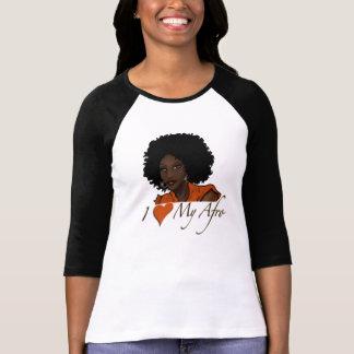Eu amo meu T da luva do preto do Afro Camiseta
