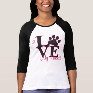 Eu amo meu t-shirt de Pitbull Camiseta