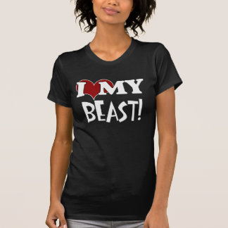 Eu amo meu t-shirt do animal camiseta
