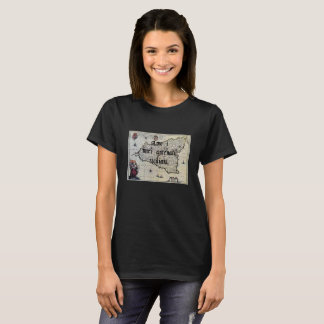 Eu amo meu t-shirt feito sob encomenda siciliano camiseta