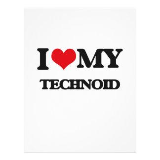 Eu amo meu TECHNOID Modelo De Panfleto