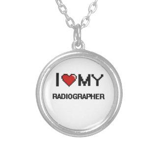 Eu amo meu técnico de radiologia colar com pendente redondo
