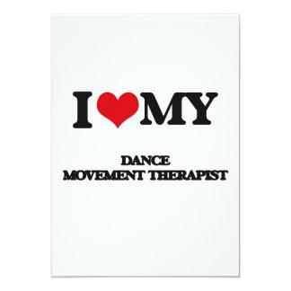 Eu amo meu terapeuta do movimento da dança convites