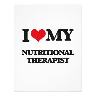 Eu amo meu terapeuta nutritivo panfleto personalizado
