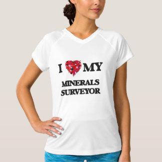 Eu amo meu topógrafo de minerais camisetas
