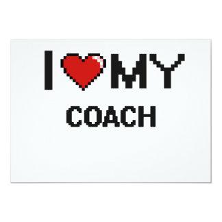 Eu amo meu treinador convite 12.7 x 17.78cm