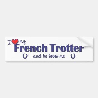 Eu amo meu trotador francês (o cavalo masculino) adesivo para carro