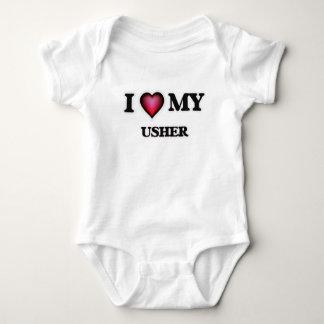 Eu amo meu Usher Body Para Bebê